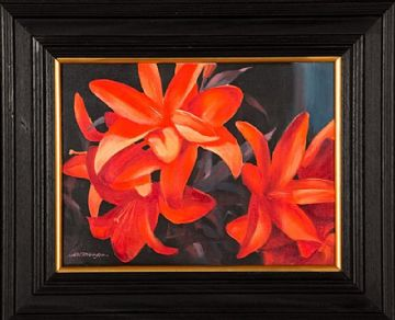 Alastair W Thomson Still Life Oil Painting Tiger Lilies Flowers